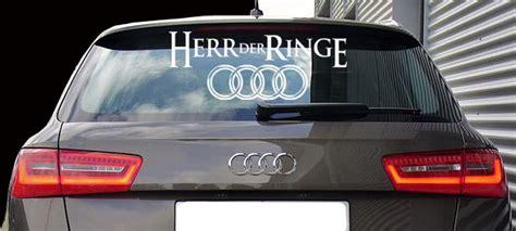 Aufkleber Von Der Heckscheibe Entfernen by Aufkleber Herr Der Ringe 60 Cm Audi Heckscheibe Oder