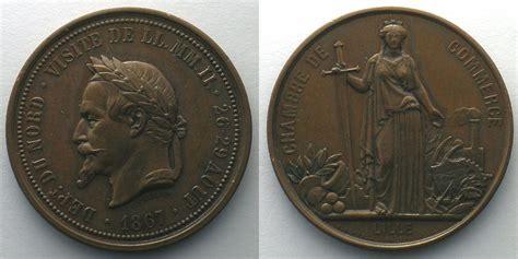 chambre du commerce et de l artisanat 1867 jetons und medaillen numismatique du commerce et de l