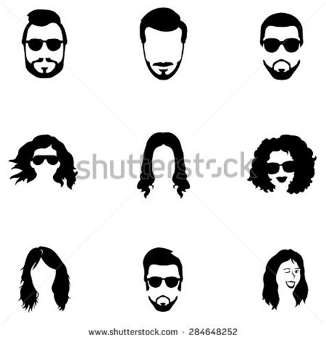 interior artistic stock vectors vector clip art male hair clipart male hair clipart mens hair stock