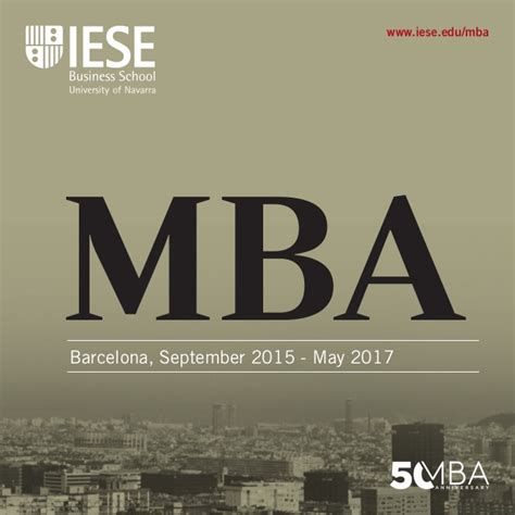 Mba Home Show 2017 by Iese Mba Brochure 2015