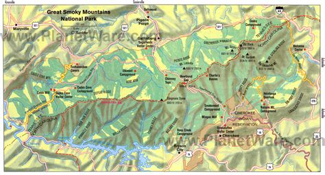 mountain map carolina travel guide planetware