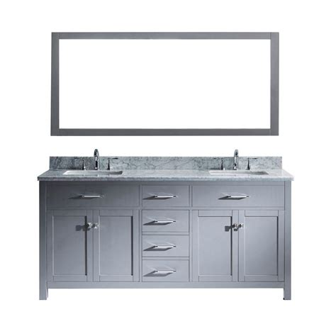 virtu usa huntshire 72 quot virtu usa caroline 72 in w x 36 in h vanity with marble vanity top in carrara white with white