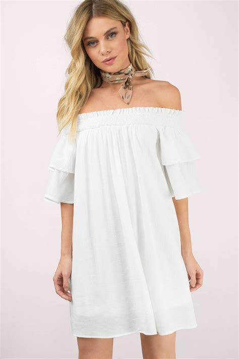 Dress White The white shift dress shoulder dress hippie white