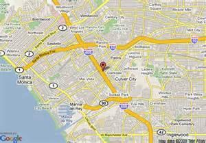 map of ramada ltd culver city ca culver city