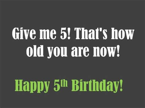 Birthday Quotes For 5 Year 5th Birthday Messages Wishes And Poems Holidappy