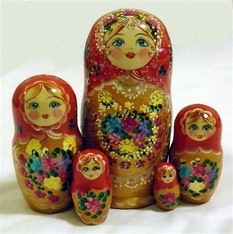 design a nesting doll red matryoshka wooden nesting dolls with flowers design