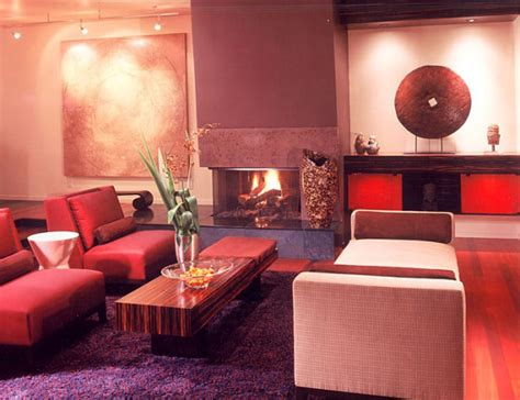 a red and purple living room decoist