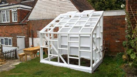 how do i build a greenhouse in my backyard building a glass walled wooden lean to greenhouse youtube