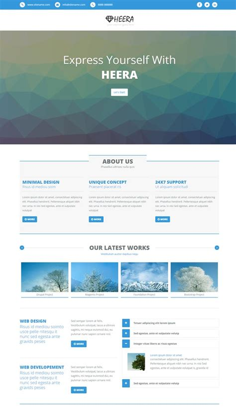html site template 30 bootstrap website templates free