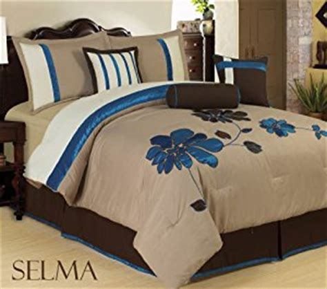 blue and tan bedding amazon com bednlinens 7 piece queen teal blue with tan