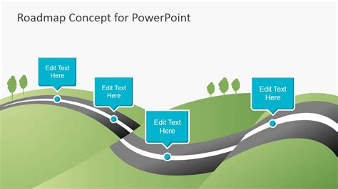 Creative Roadmap Concept Powerpoint Template Slidemodel Roadmap Template Powerpoint