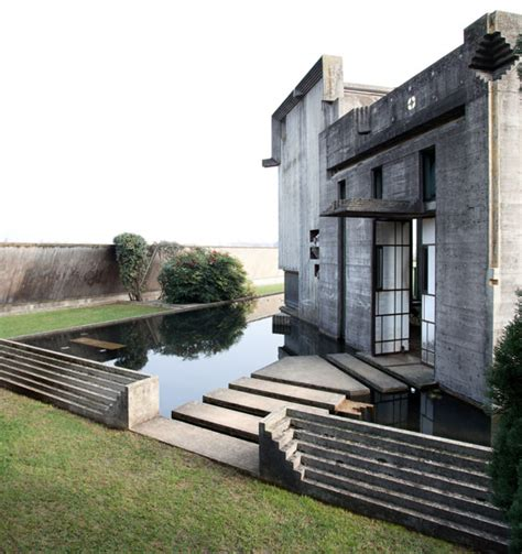 House Design With Furniture by Brion Cemetery In Concrete By Carlo Scarpa Homeli