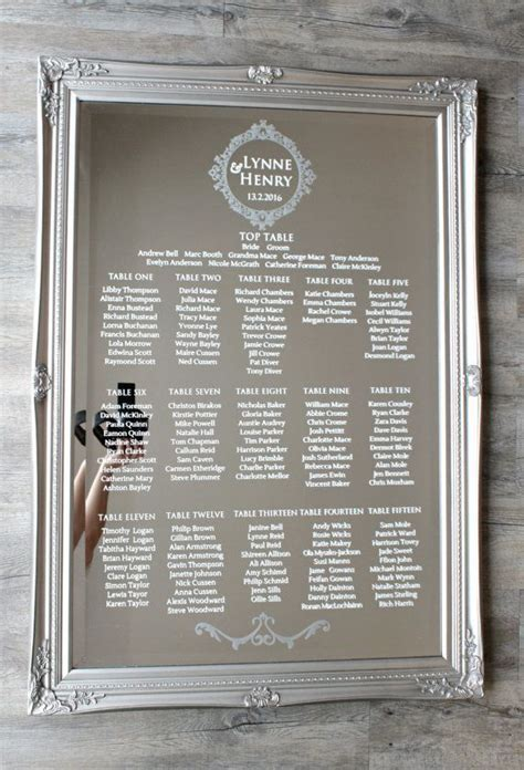Best 25  Mirror seating chart ideas on Pinterest   Seating