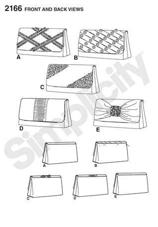 pattern drafting for handbags simplicity 2166 clutch bags