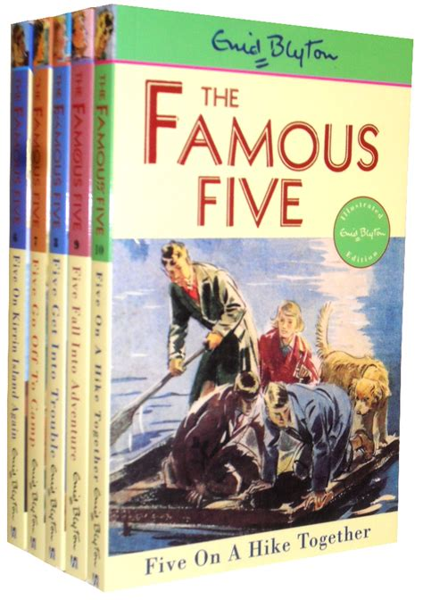 famous books enid blyton famous five collection 5 books set 6 to10 ebay