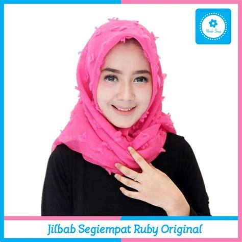 48 daftar harga jilbab segiempat kerudung terbaru