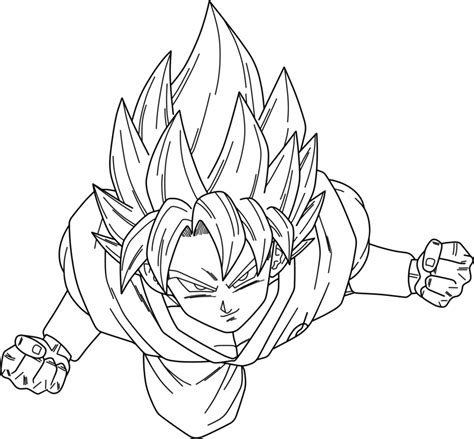 goku super saiyan god coloring pages az coloring pages