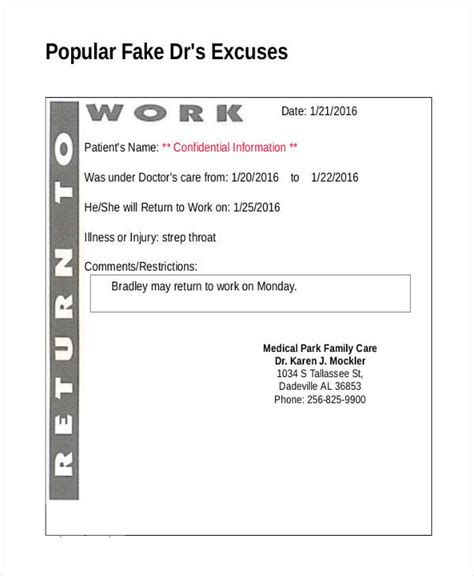 Excuse Letter Allergy doctors notes pertamini co
