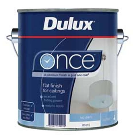 Dulux One Coat Ceiling Paint by Dulux Once 2l Flat White Ceiling Paint I N 1400104 Bunnings Warehouse