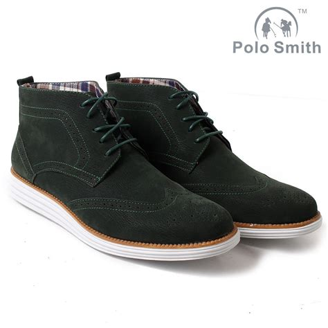 Suade Polos 5 mens polo smith brouge derby boots suede look ankle