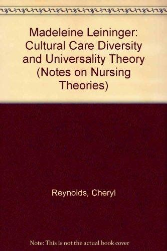 cultural care diversity and universality madeleine leininger cultural care diversity and