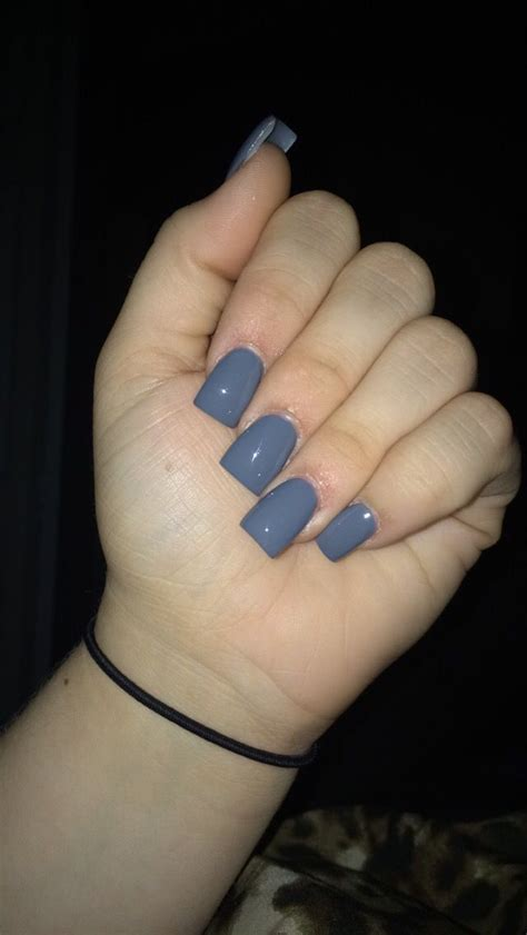 Gel Wanna Be Grey Brown 1 gorgeous gray acrylic nails square shape nails