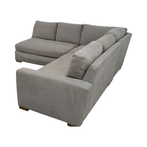 used restoration hardware sofa 77 off restoration hardware restoration hardware grey l