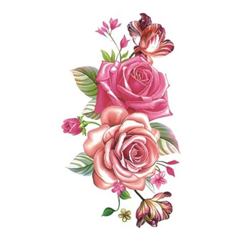 X125 Temporary Stiker Size 10 5 X 6cm wyuen 5 sheets flower waterproof temporary sticker for