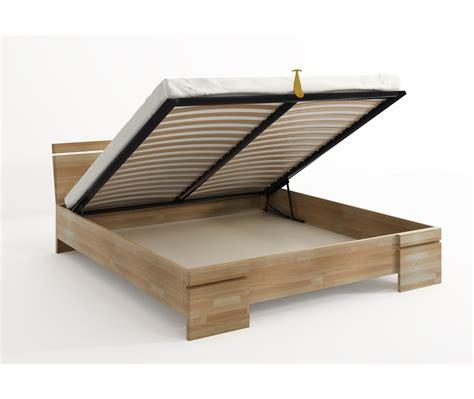 letto in legno con contenitore letto in legno sparta in faggio con contenitore vivere zen