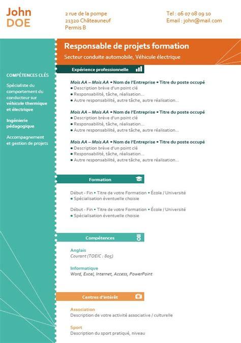 Resume Format Pdf Or Doc by Exemple De Cv En Fran 231 Ais Mod 232 Les Et Conseils