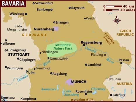 bavaria germany map bavaria austria map