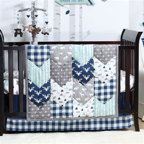 boy nursery bedding sets woodland trail forest animal baby boy crib bedding 20 nursery essentials set walmart