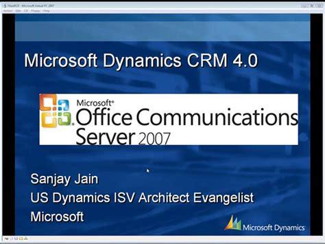 Microsoft Office 4 Microsoft Dynamics Crm 4 0 Office Communication Server