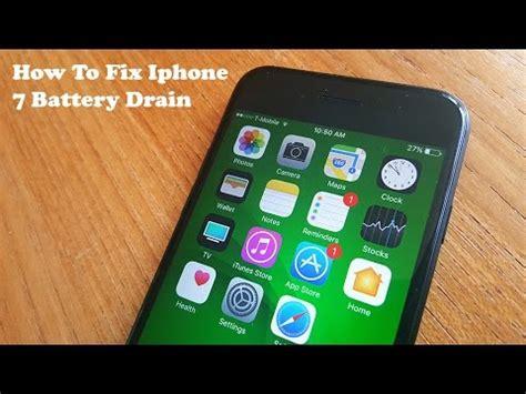 how to fix iphone 7 battery drain fliptroniks