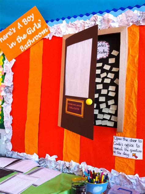 the boy in the girls bathroom literacy display for there s a boy in the girls bathroom