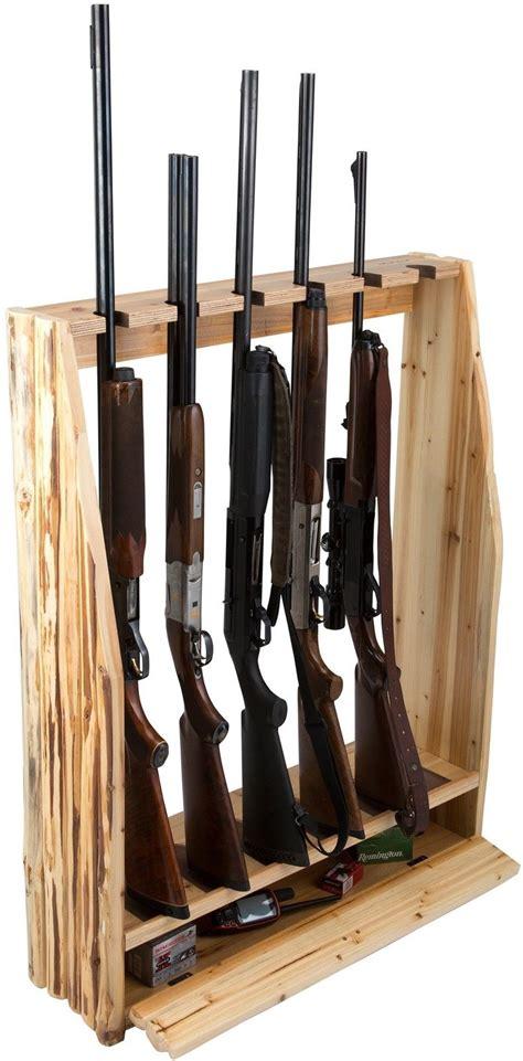 Gun Storage Rack by Wooden Rifle 6 Gun Rack Storage Vertical Standing Display
