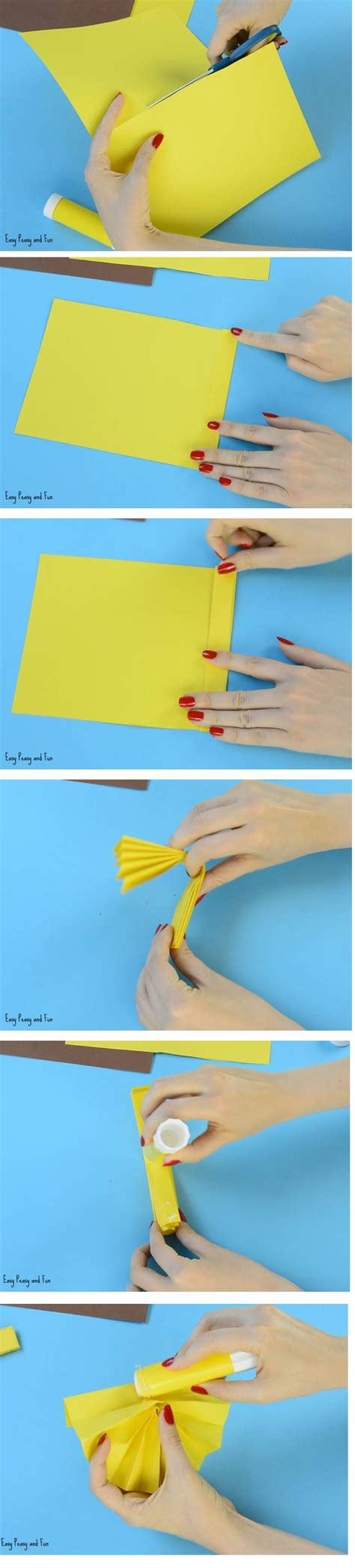 membuat kolase matahari gambar membuat bunga matahari kertas hvs youtube gambar