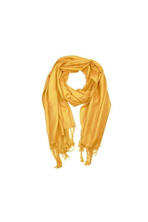 Pashmina Signal 6th borough boutique yellow pashmina scarf from manhattan