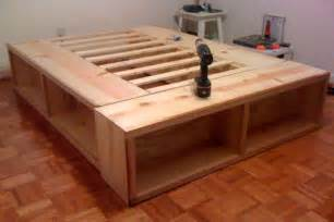 Free Queen Size Platform Bed Frame Plans by The Awesome Of Diy Platform Bed With Storage Project New Home Designs