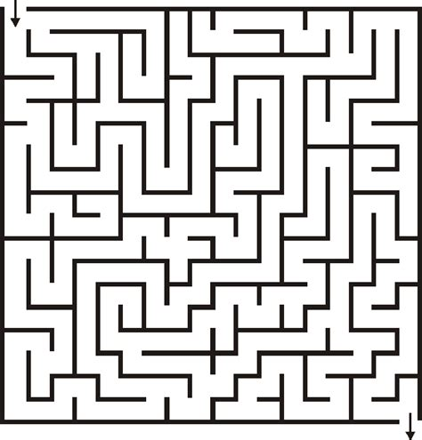 printable basic mazes 18x18 maze for kids hidden pictures other kids pages