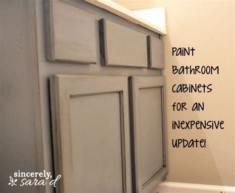 how to paint a bathroom cabinet painting bathroom cabinets for the home pinterest