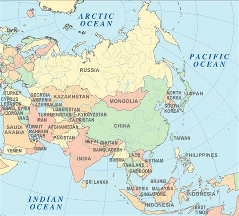 map of asian countries asia atlas asia map and geography