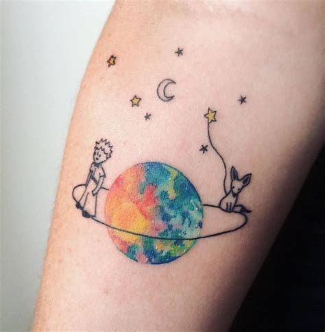 45 eloquent little prince tattoos that express immense