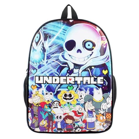Anime 90 S Nickelodeon Backpack by Undertale Sans Skull Anime Boys Back To School Book