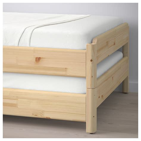 stackable beds ut 197 ker stackable bed with 2 mattresses pine malfors medium