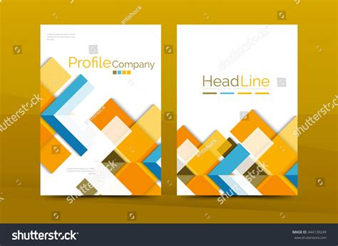 color business brochure cover vector template stock vector