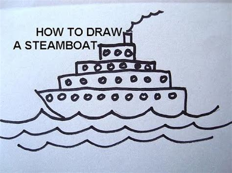 steamboat cartoon drawing how to draw a steamship free art lessons for kids learn