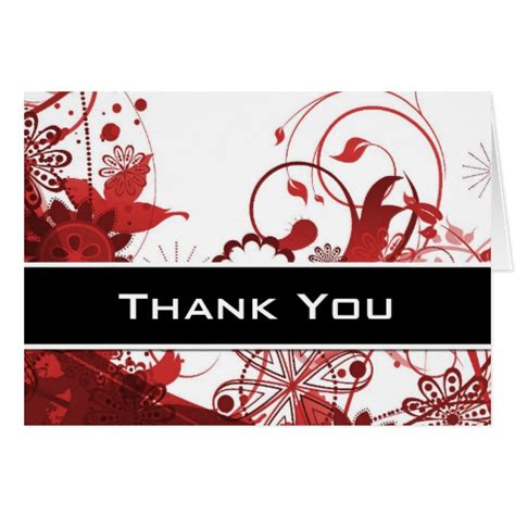 Thank You Card Template Flowers by Floral Thank You Card Template Zazzle