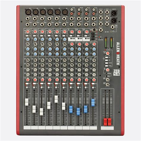 Mixer Zed allen heath zed 14 mixer 6x mic line 4x stereo no fx usb i o l r 4x aux out software