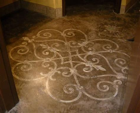 Decorative Floor Painting Ideas A Stroke Of Genius Decorative Painting Finished This Amazing Concrete Floor In An Italian Eatery
